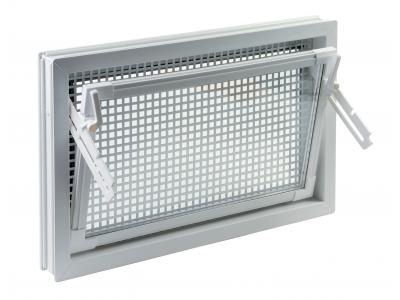 izolačné dvojsklo s mriežkou proti hlodavcom - farba: biela 400x400